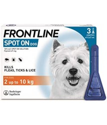 FRONTLINE Spot On Flea & Tick Treatment for Small Dogs (2-10 kg) - 3 Pipettes
