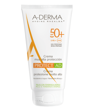 A-Derma Protect AD Creme Tres Haute Protection SPF50 Αντηλιακή Πολύ Υψηλής Προστασίας για Ατοπικό & Επιρρεπές Δέρμα 150ml