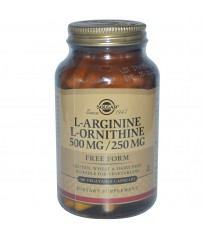 SOLGAR  L-ARGININE-ORTHINE 50 CAPS