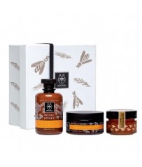 APIVITA Royal Honey Gift Set Creamy Shower Gel 300ml + Rich Moisturizing Body Cream 50ml + Apigea Honey 160gr
