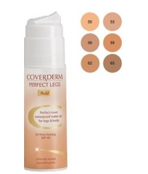 COVERDERM PERFECT LEGS No50 FLUID WATERPROOF MAKE-UP FOR LEGS & BODY 24h LASTING SPF40 75ml