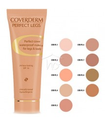 COVERDERM PERFECT LEGS No6 WATERPROOF MAKE-UP FOR LEGS & BODY 24h LASTING SPF16 50ml