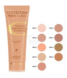 COVERDERM PERFECT LEGS No2 WATERPROOF MAKE-UP FOR LEGS & BODY 24h LASTING SPF16 50ml