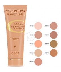 COVERDERM PERFECT LEGS No3 WATERPROOF MAKE-UP FOR LEGS & BODY 24h LASTING SPF16 50ml