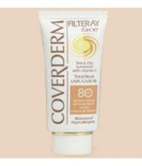 COVERDERM Filteray Face Tinted SPF80 Light Beige