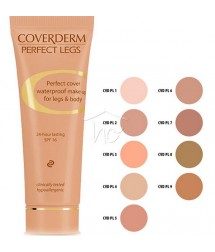 COVERDERM PERFECT LEGS No4 WATERPROOF MAKE-UP FOR LEGS & BODY 24h LASTING SPF16 50ml