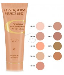 COVERDERM PERFECT LEGS No7 WATERPROOF MAKE-UP FOR LEGS & BODY 24h LASTING SPF16 50ml