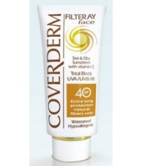 COVERDERM Filteray Face Tinted SPF40 Soft Brown