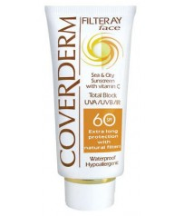 COVERDERM Filteray Face Tinted SPF60 Soft Brown