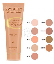 COVERDERM PERFECT LEGS No8 WATERPROOF MAKE-UP FOR LEGS & BODY 24h LASTING SPF16 50ml