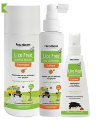 FREZYDERM LICE FREE SET (SHAMPOO 125 ml + LOTION 125ml) & ΔΩΡΟ LOTION 80ml